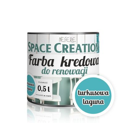 Farba do renowacji Space Creation Intense - turkusowa laguna 0,5l