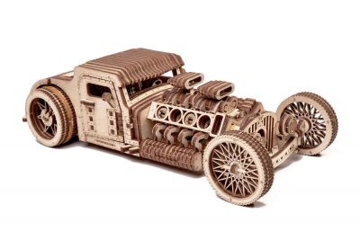 WoodTrick Puzzle mechaniczne 3D Hot Rod