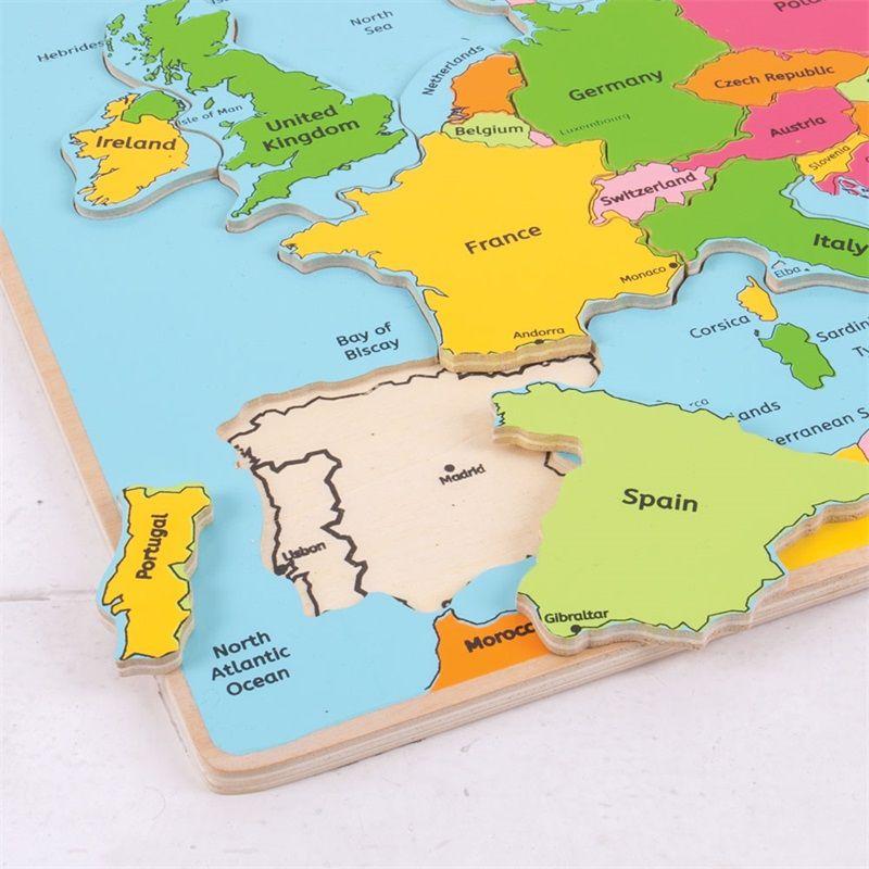 Ukladanka Edukacyjna Mapa Europy Puzzle Drewniane Nefere Pl