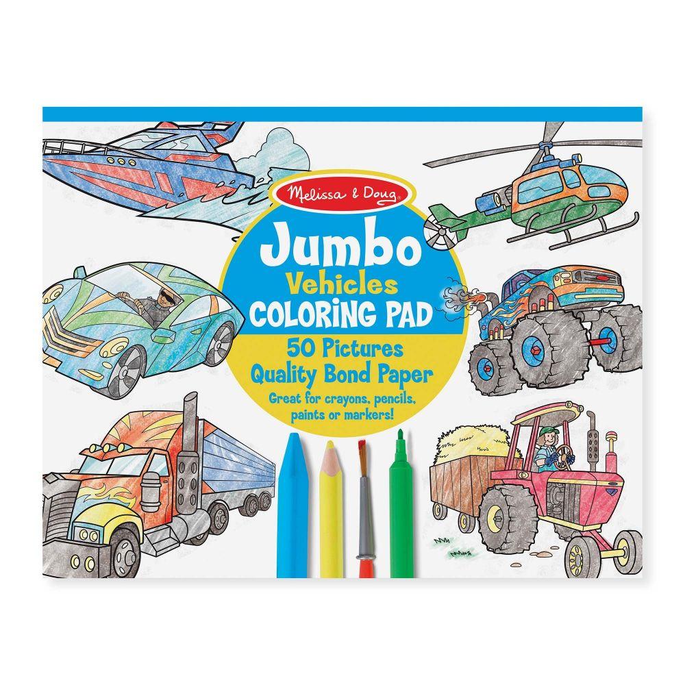 Duza Kolorowanka Dla Chlopca Pojazdy 50 Arkuszy Nefere Pl