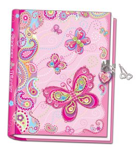 Ręcznie robiony pamiętnik z motylami