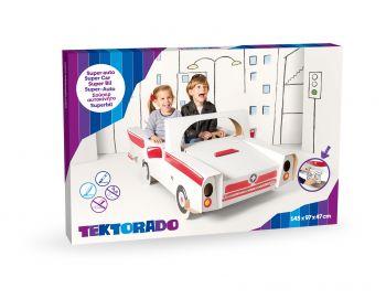Samochód duży kartonowy z naklejkami