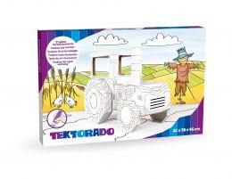 Zabawka tekturowa  - Traktor z kartonu do kolorowania