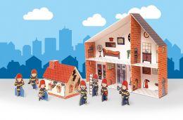 Zabawka kartonowa - Remiza strażacka do składania