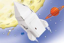 Rakieta kosmiczna kartonowa mała