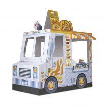 Wóz z jedzeniem z kartonu