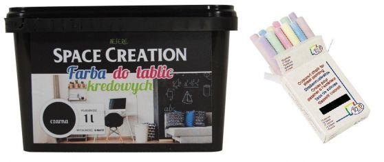 Zestaw farba tablicowa 1l + kreda