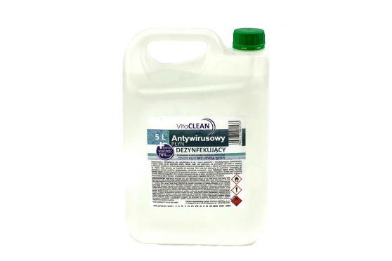 Płyn do dezynfekcji Antywirusowy alkoholowy 70%vol 5L