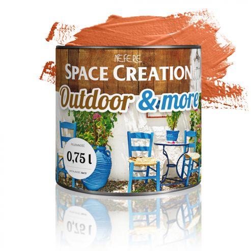 Farba zewnętrzna Outdoor&More 0,75l Pomarańczowa