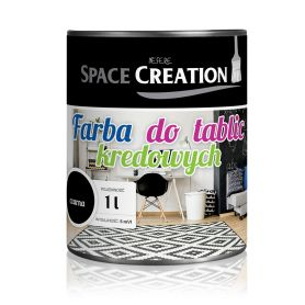 Farba tablicowa CZARNA  Space Creation 1 litr