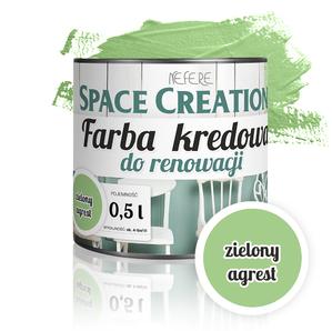 Kredowa farba do renowacji - zielony agrest 0,5l
