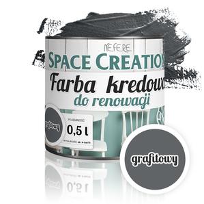 Farba kredowa Chalk Paint Intense - grafit 0,5l
